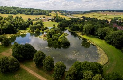 West Wycombe Park wedding lake view