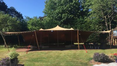Stretch Tent in the garden